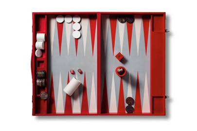 Christmas gifts for globetrotters: Asprey leather travel backgammon set
