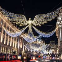 Admire the festive lights across London