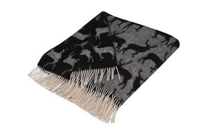 Kissing Stags Lambswool Blanket