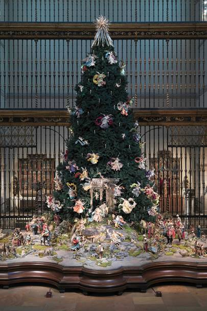 2. Metropolitan Museum of Art Christmas Tree and Neapolitan Baroque Crèche