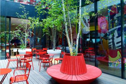 Courtyard at CitizenM Bankside