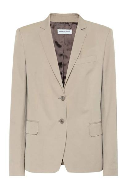 7. Dries Van Noten beige cotton blazer