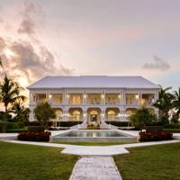 A stately villa just outside of Nassau, in the Bahamas