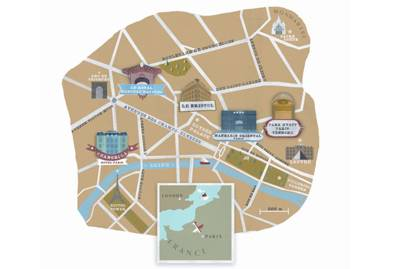 Map of Paris hotels