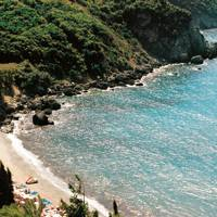 The beach at Grand Mediterraneo, Corfu