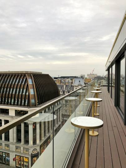 The rooftop bar at Hotel Indigo, Leicester Square