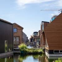 Amsterdam industrial district turned floating hamlet