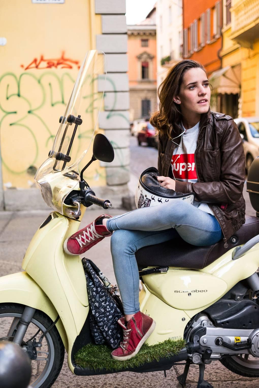 Woman in Bologna