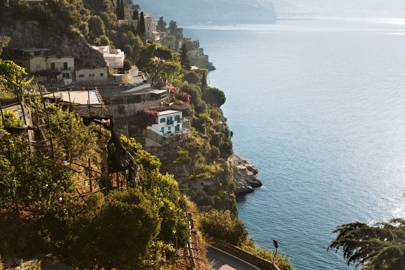 The 'road of 1,000 bends', along the Amalfi Coast