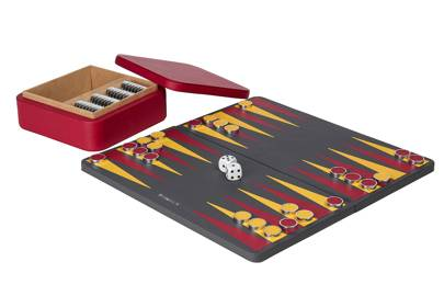 The backgammon set